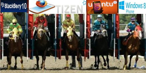 FIve OS mobiles in starting gate