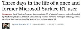 Former Surface RT user