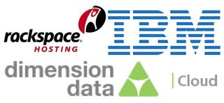 Logos IBM Dimension, Rackspace