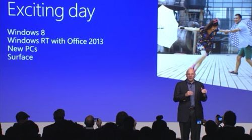 Windows 8 launch Ballmer
