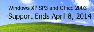 End support Windows XP 2014