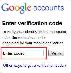 Two steps authentification for google apps