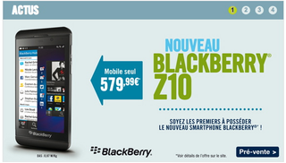 Phone House BlackBerry Z10 - 580 €