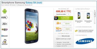 Galaxy S4 700 €