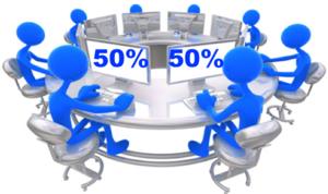IT team large organizations 50:50