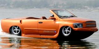 Amphibious car