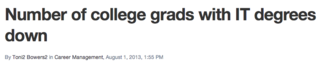 IT college grads down