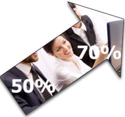 50% vers 70 % IT internes
