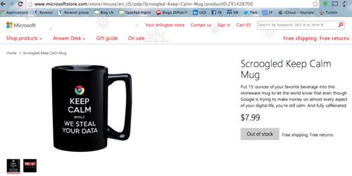 Microsoft Anti Google Mug
