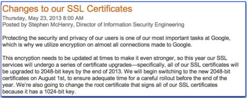 Google goes 2048 for SSL