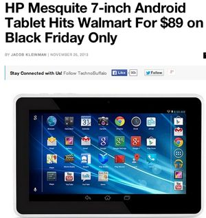 HP Mesquite 89$ Tablet