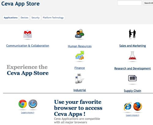 Ceva App Store Home Page