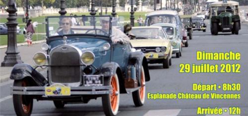 Rallye vieilles voitures Paris
