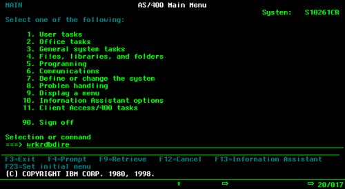 Green Screen AS400