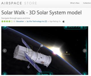 LeapMotion solarwalk