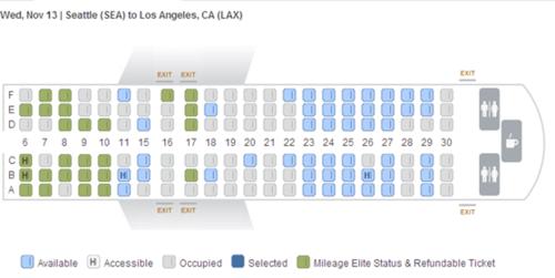 Seat selection plane