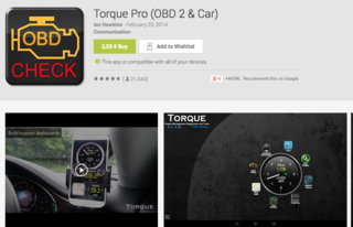 Torque pro application Android