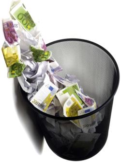 DPC euros trashcan 44850605