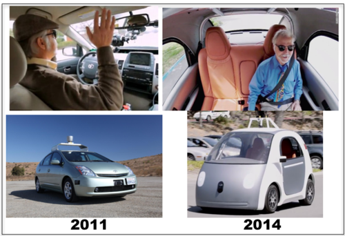 Google Cars Evolution