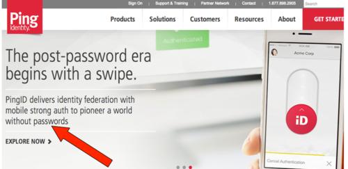 Ping Identity no passwords