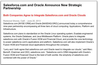 Accord SF Oracle