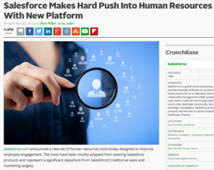 Salesforce enters HR domain
