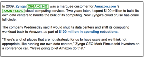 Zinga back to AWS
