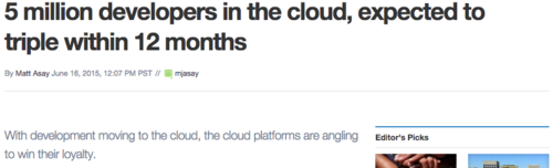 5M developpers in the Cloud