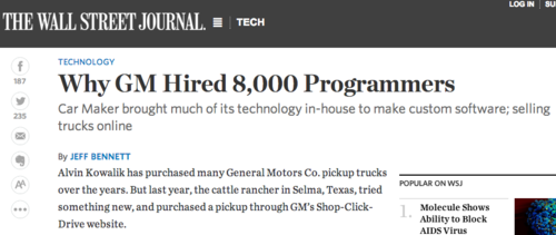 GM hired 8000 developpers