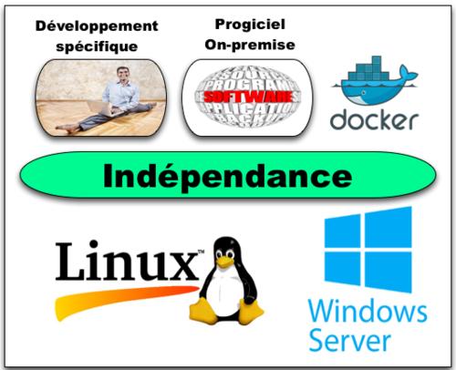 Usages indépendance Plateformes Serveurs infrastructures