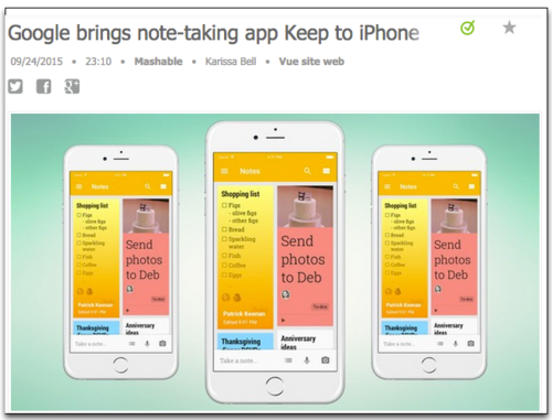 Google Notes taking on iPhone