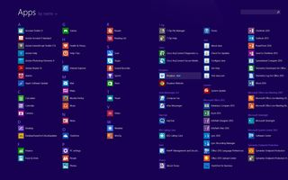 Windows 8 lots of apps