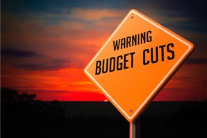 DPC Budget cuts sign S 79238394