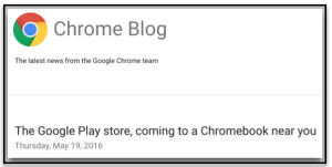 Google Blog Play store on Chromebooks