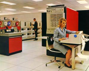Old IBM 360 Mainframe