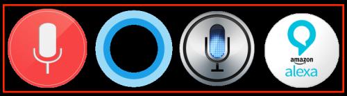 Logos Cortana Siri Alexa Google Now