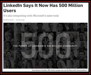 LinkedIn 500 M Users