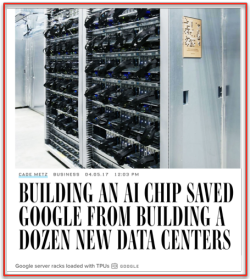 Chip Dédié Google AI = less Data Centers