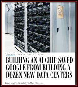 Chip Dédié Google AI = less Data Centers