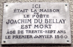 Plaque J du Bellay