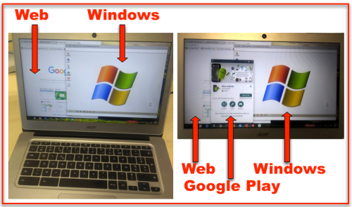 Chromebook - trois usages photos