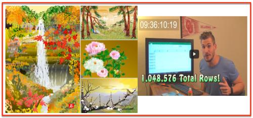 Usages Excel - Peinture et fichier 1 M lignes