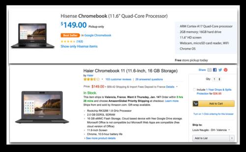 Haier - Hisense chromebooks