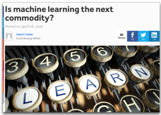 Is Machine learning the next commodity