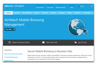 AirWatch Mobile Browsing