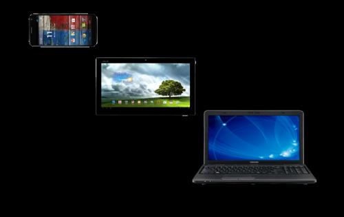 Tailles d'écran smartphones tablet laptop