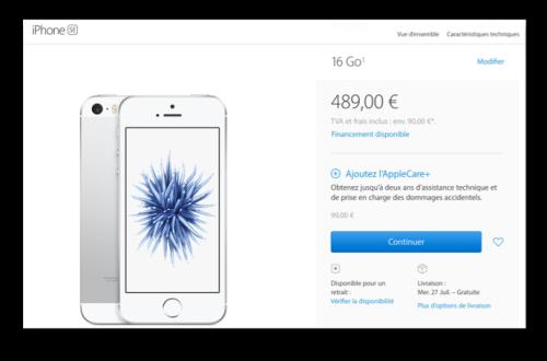 Iphone SE 489 €