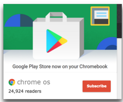 Google PlayStore on Chromebooks