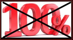 100 % - No