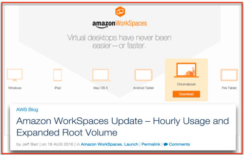 AWS workspace - pay by hour